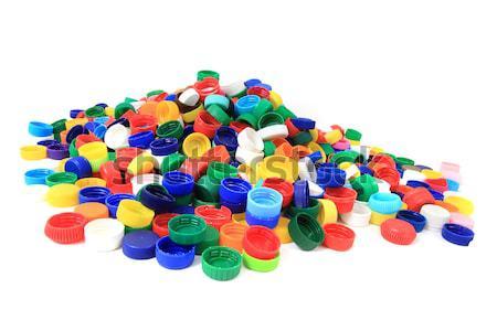 Stock fotó: Szín · műanyag · díszállat · üvegek · izolált · fehér