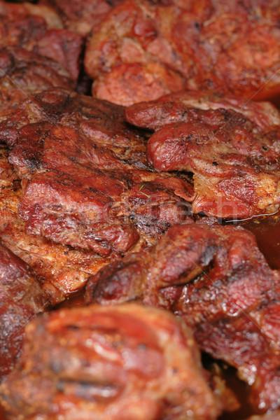 Gegrild vlees mooie voedsel koe restaurant vlees Stockfoto © jonnysek