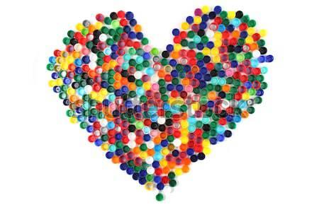 heart from color caps  Stock photo © jonnysek