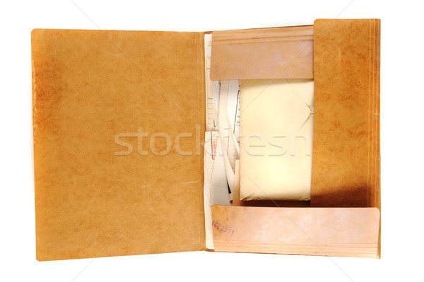 Stock photo: old top secret folder with documents