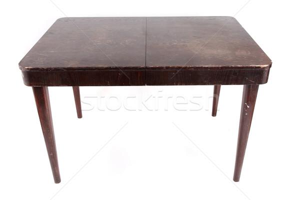 Vieux sombre table isolé blanche maison Photo stock © jonnysek