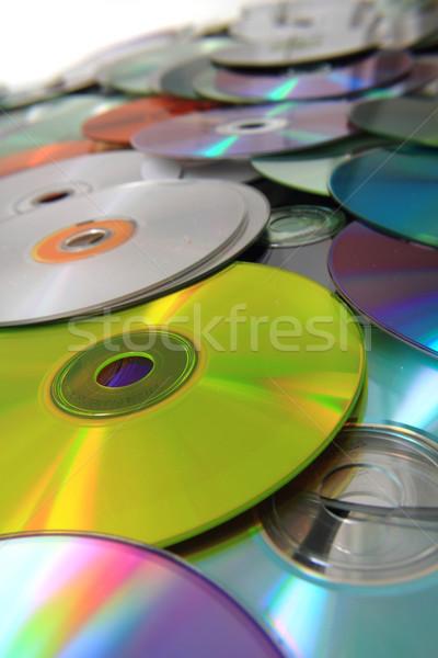 CD and DVD (data) background  Stock photo © jonnysek