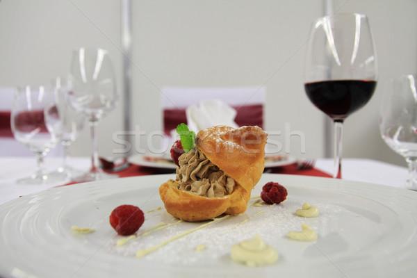 Geleneksel Çek vanilya tatlı gurme gıda parti Stok fotoğraf © jonnysek