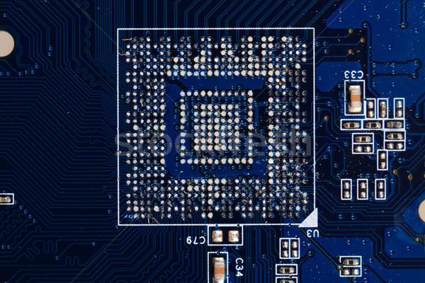 マイクロチップ 青 テクスチャ いい 技術 科学 ストックフォト © jonnysek