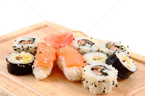 Gésa szusi izolált fehér hal japán Stock fotó © jonnysek