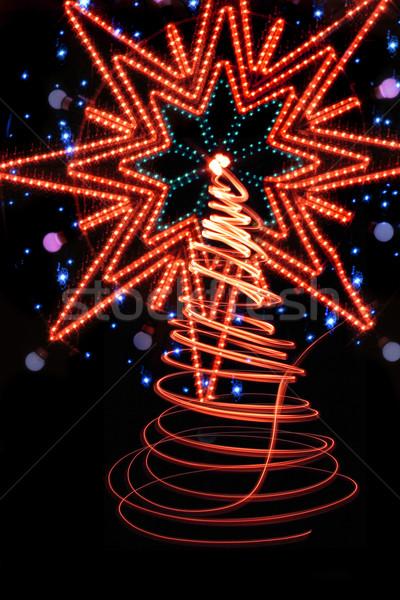 Arbre de noël Nice arbre lumière design art Photo stock © jonnysek