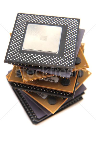 Cpu isolé blanche ordinateur technologie industrie Photo stock © jonnysek