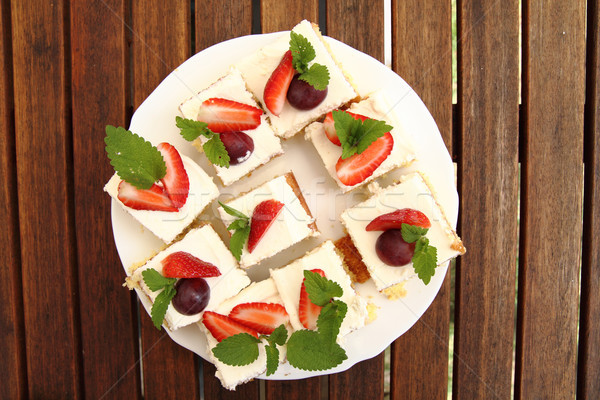 strawberries cake  Stock photo © jonnysek