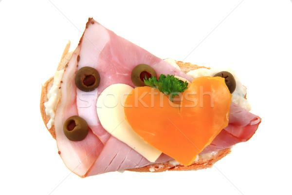 Stok fotoğraf: Komik · sandviç · aşıklar · yalıtılmış · beyaz · çocuklar