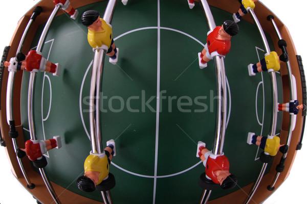 Tabela futebol jogadores isolado branco grama Foto stock © jonnysek