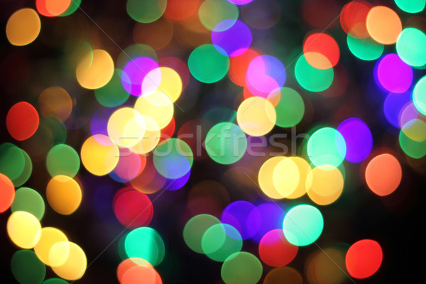 Abstract christmas lichten kerstmis kleur licht Stockfoto © jonnysek