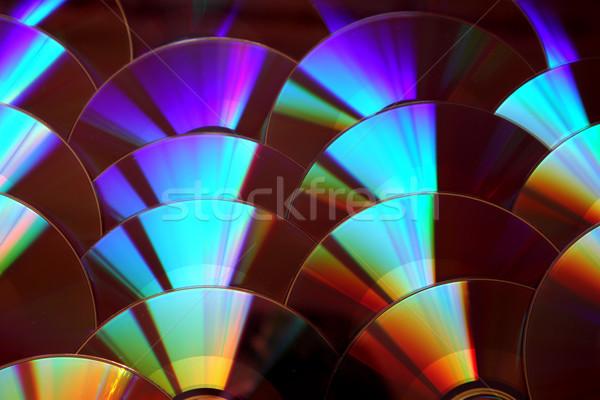 Cd szép számítógép zene absztrakt technológia Stock fotó © jonnysek