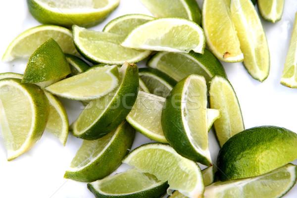 Mooie vruchten blad oranje citroen plant Stockfoto © jonnysek
