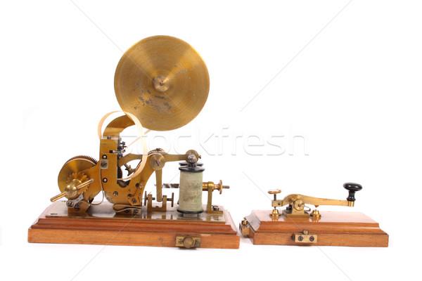 öreg technológia telefon kulcs kommunikáció fekete Stock fotó © jonnysek