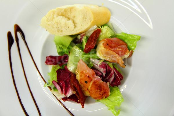 Salata et güzel gıda arka plan tavuk Stok fotoğraf © jonnysek