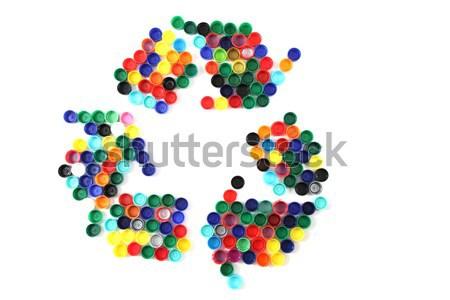 plastic color background Stock photo © jonnysek