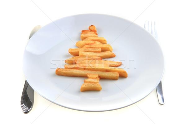 christmas tree from the potatoes chips  Stock photo © jonnysek