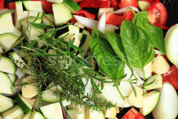 растительное подготовленный Открытый гриль Nice продовольствие Сток-фото © jonnysek