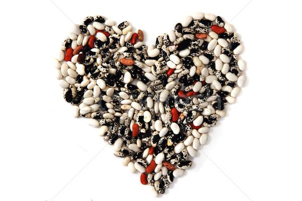 heart from color beans Stock photo © jonnysek