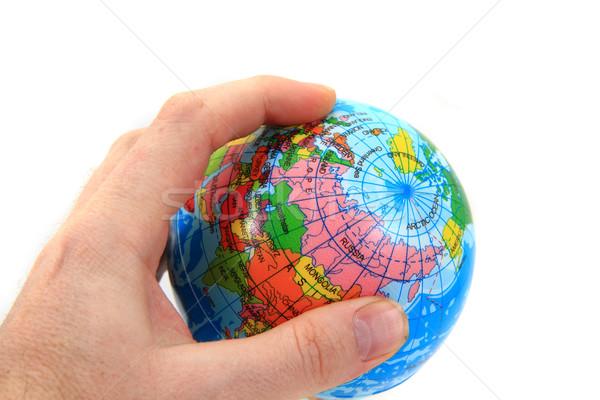 Мир мира человеческая рука изолированный белый здоровья Сток-фото © jonnysek
