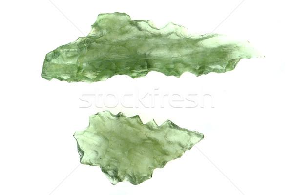 green moldavite minerals Stock photo © jonnysek