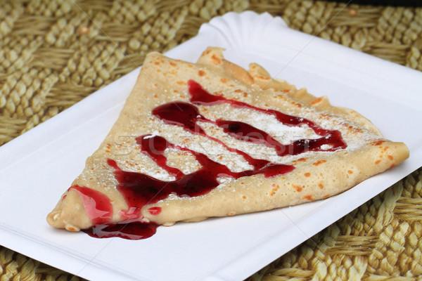 Kolay Çek krep gurme gıda gıda çikolata Stok fotoğraf © jonnysek