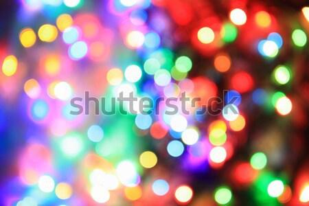 Couleur Noël lumières Nice vacances rouge Photo stock © jonnysek
