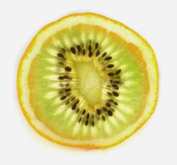 kiwi orange Stock photo © jonnysek