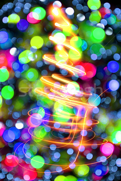 Noël lumières texture Nice vacances résumé Photo stock © jonnysek