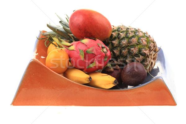 パイナップル マンゴー オレンジ バナナ 龍 フルーツ ストックフォト © jonnysek
