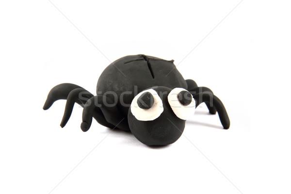 black spider from the plasticine Stock photo © jonnysek
