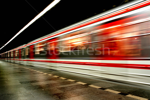 subway in the prague (transportation background) Stock photo © jonnysek