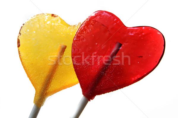 lollipops as hearts Stock photo © jonnysek