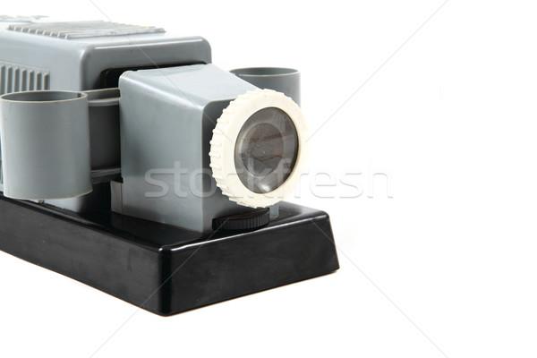 Eski projektör 1950 yalıtılmış beyaz film Stok fotoğraf © jonnysek