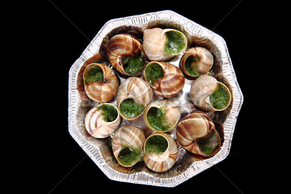 snails - french gourmet food Stock photo © jonnysek