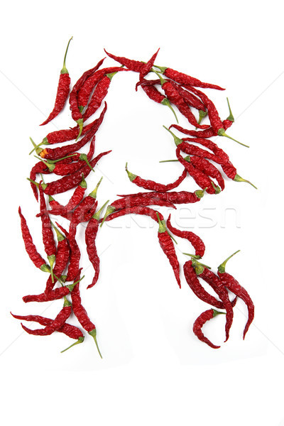 r - alphabet sign from hot chili Stock photo © jonnysek