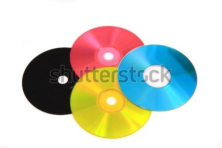 CD or DVD as CMYK color model Stock photo © jonnysek