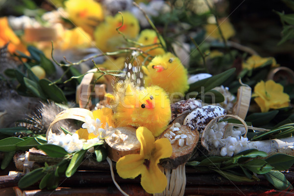 Tavasz húsvét kicsi citromsárga baba tojás Stock fotó © jonnysek