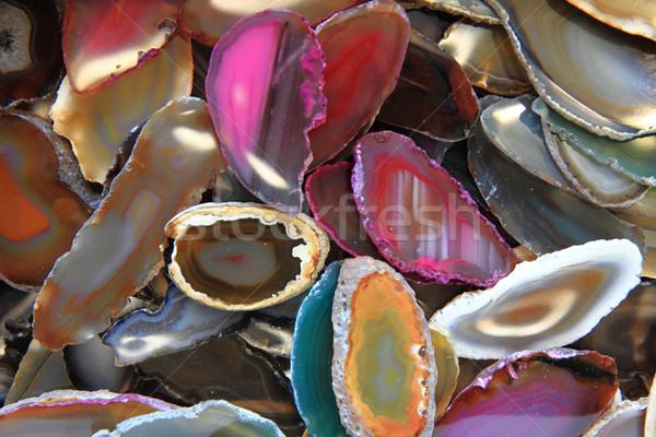 Kleur mineraal textuur mooie natuurlijke abstract Stockfoto © jonnysek