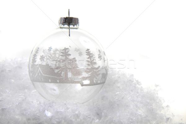 christmas decoration in the snow Stock photo © jonnysek