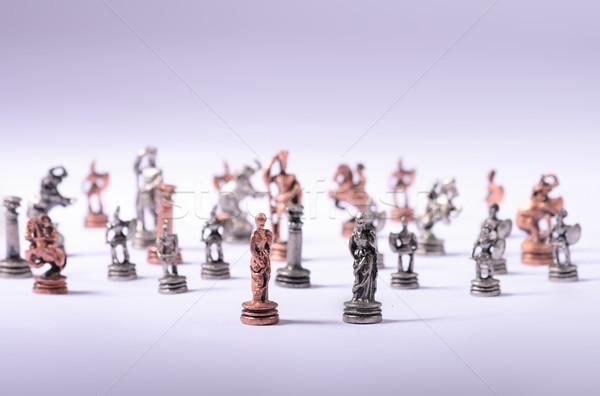 шахматам старые экзотический стороны древесины замок Сток-фото © jonnysek