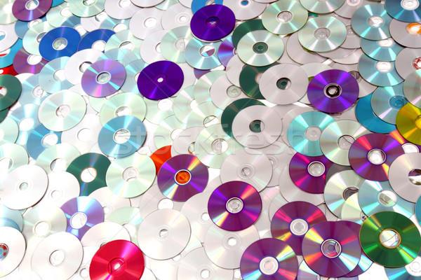 CD and DVD  technology background Stock photo © jonnysek