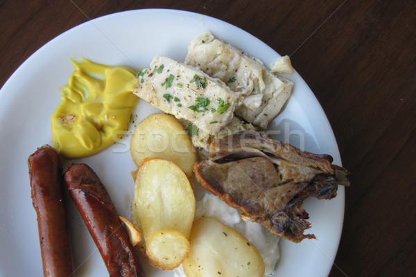 meat and vegetable Stock photo © jonnysek