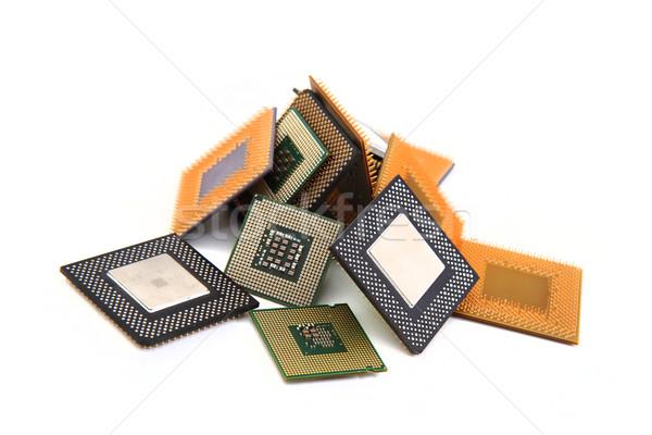 Velho isolado branco tecnologia fundo conselho Foto stock © jonnysek