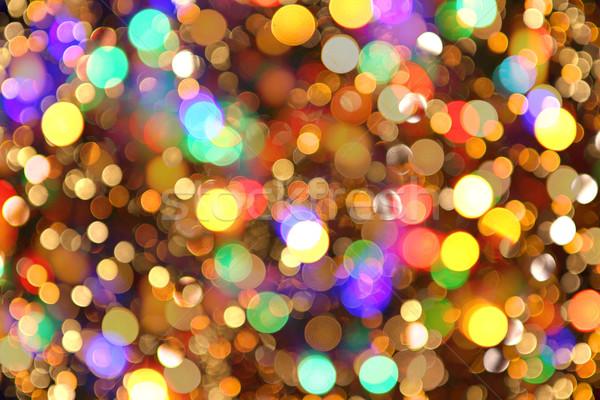 Foto stock: Natal · luzes · textura · bom · férias · abstrato