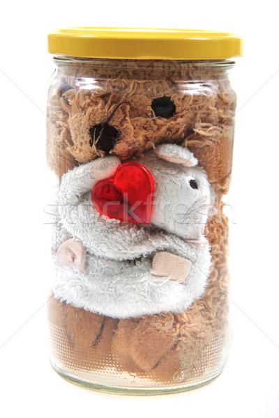 instant valentine toys in the glass bottle Stock photo © jonnysek