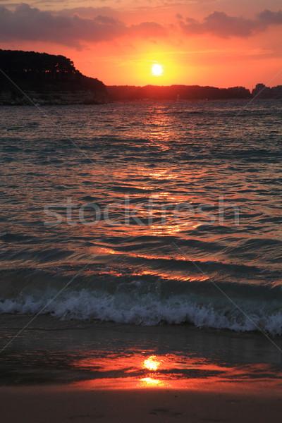 sunset on the Bulgarian Beach  Stock photo © jonnysek