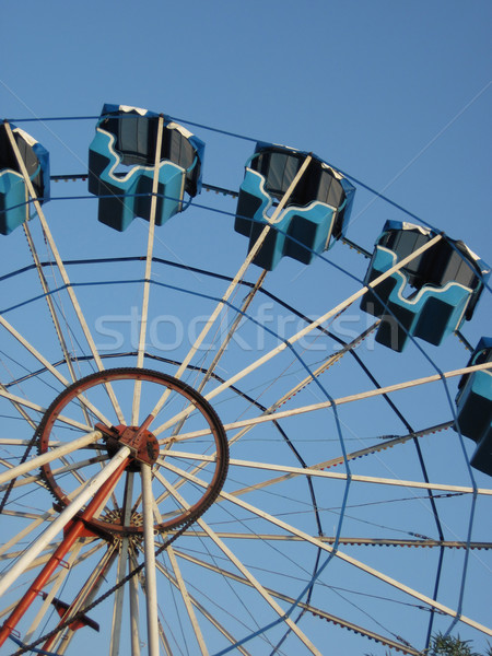 Büyük eğlence tekerlek güzel mavi gökyüzü yaz Stok fotoğraf © jonnysek