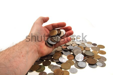old european coins in my hand Stock photo © jonnysek