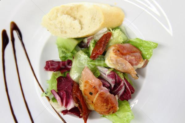 mozzarella grilled in the pig ham  Stock photo © jonnysek